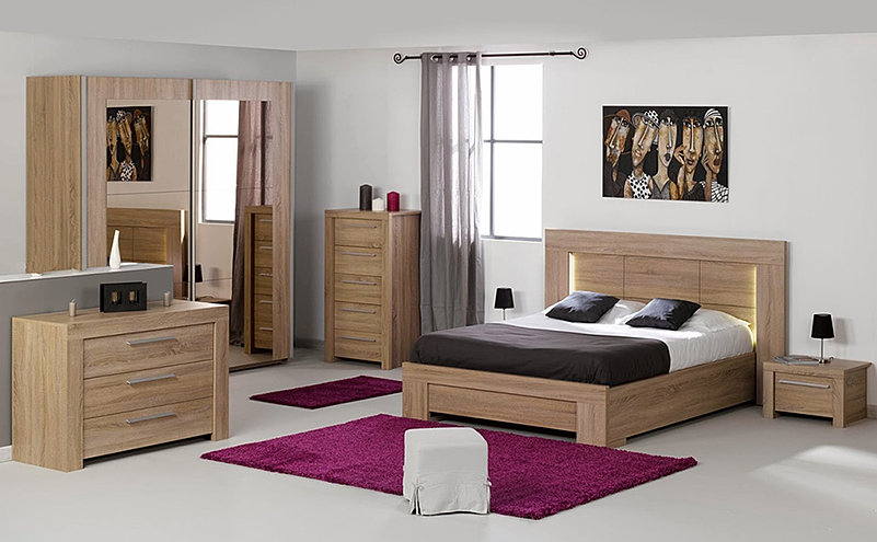 Chambre A Coucher Bois Massif – Raliss.com
