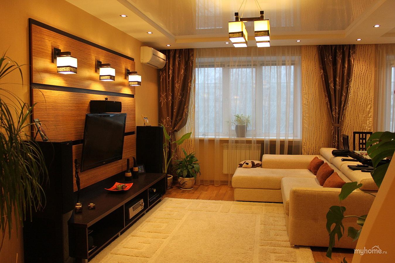 Зал в доме простой дизайн