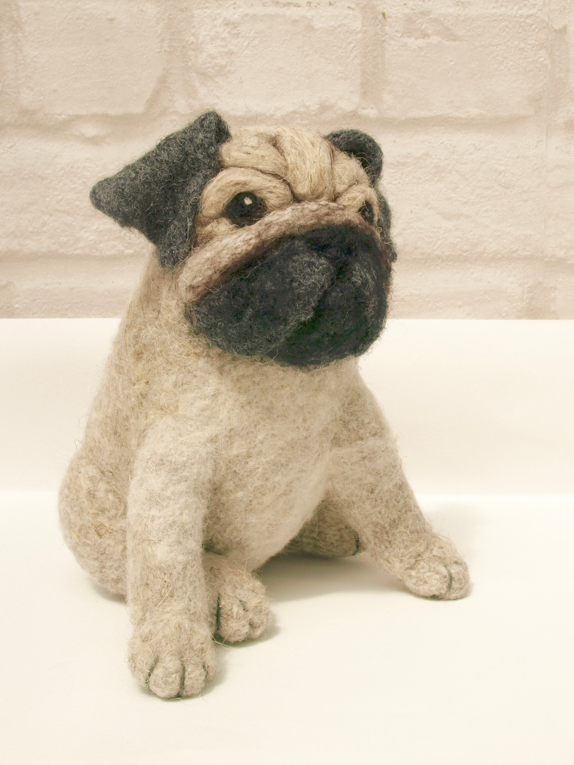 Contemporary Pug Sewing Pattern Illustration - Blanket Knitting ...