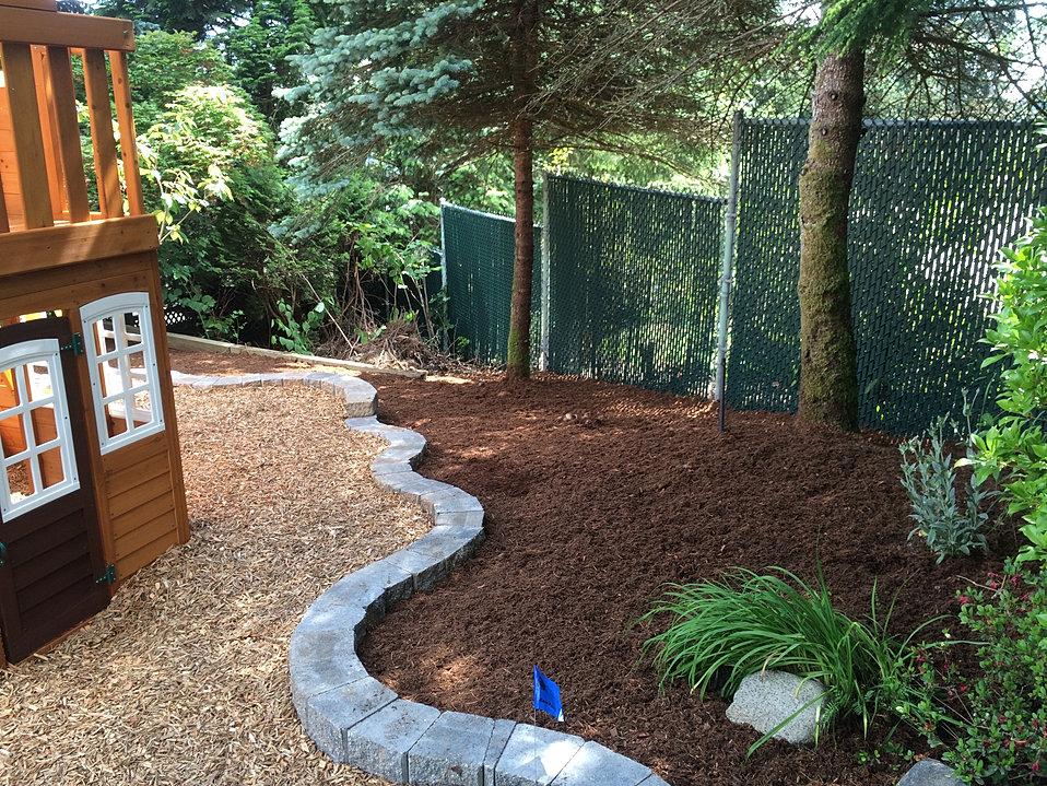 Retaining Wall, Garden Bed