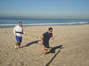 Treino na praia do dia 06/07