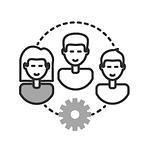 Icône travail collaboratif