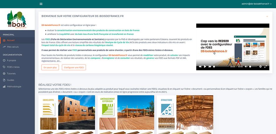 Copie d'écran du site www.de-boisdefrance.fr