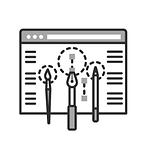 Icône personnalisation web