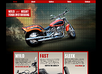 Motorbike Com Template - Rev your engines and buckle your brain bucket, this motorcycle template is going to take your bike-love to a whole new level. Add your bio, photos, and videos then hit the online road.