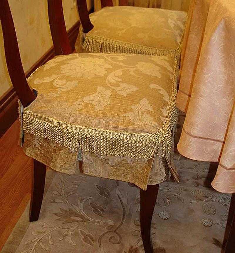 Фото чехол на стул своими руками пошаговая
