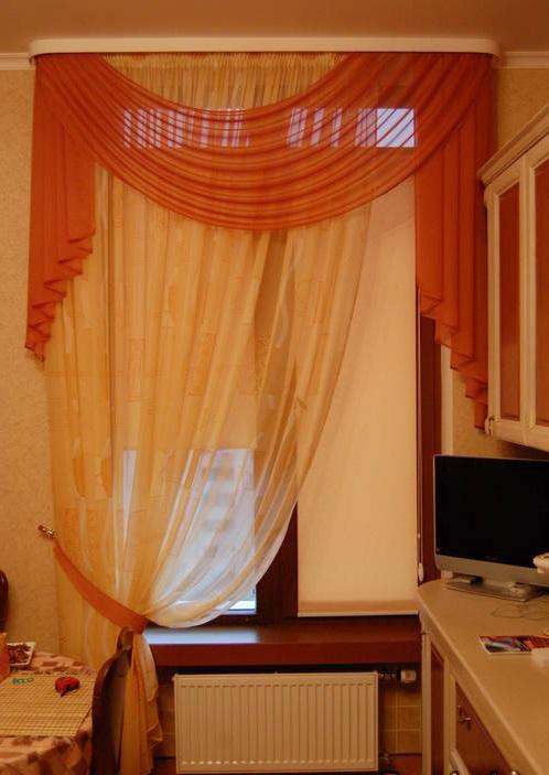 Дизайн штор и тюли на кухню