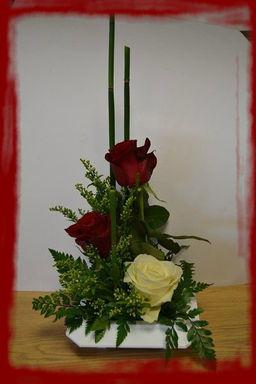 Composition hauteur saint valentin l 39 atelier la f erie des fleurs - Composition st valentin ...