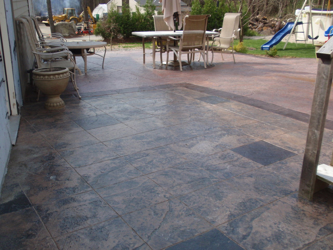 Concretesealingct created by mamaral41 based on for Acid wash concrete patio
