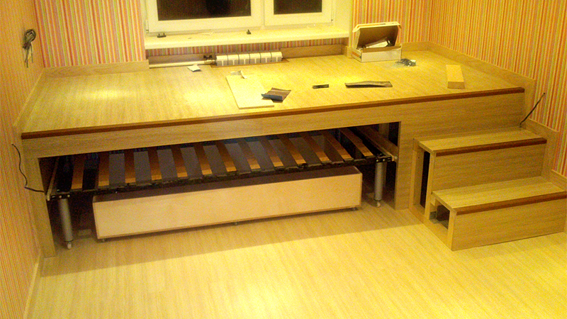 Выдвижная кровать-подиум своими руками
