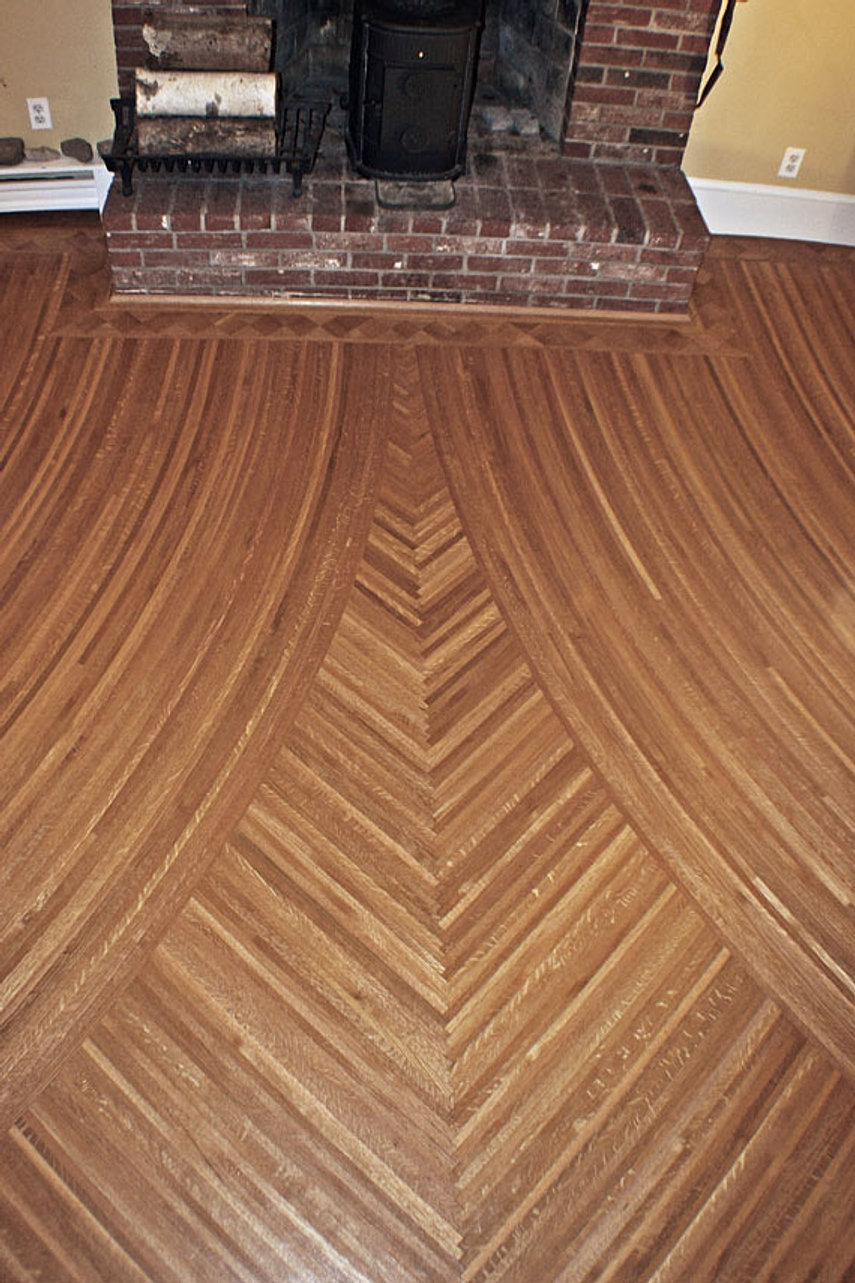 Curved Wood Flooring Fine Cut Wood Flooring