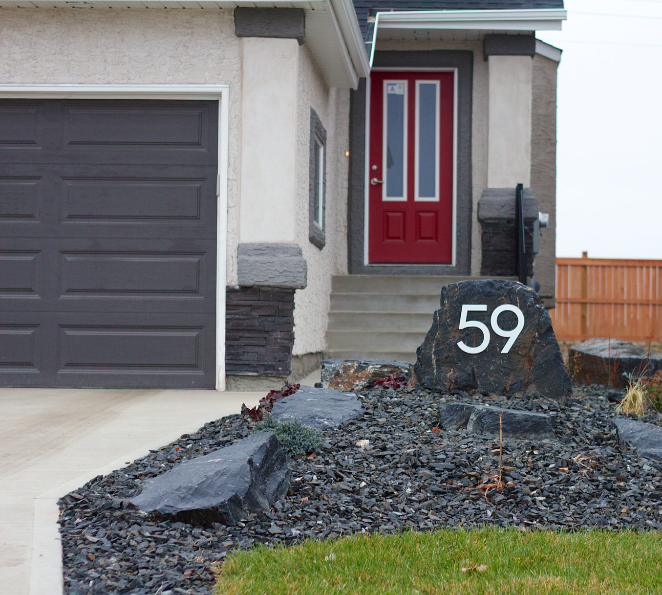 Large Modern Metal House Numbers - ^