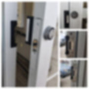 Commercial aluminum glass door Installing latch and strike