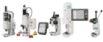 Manual Press, Toggle Press, Pnuematic Press, Electric Press, Servo Press, Hydro Electric Press, Automated Press, Press Monitor, Pin Press