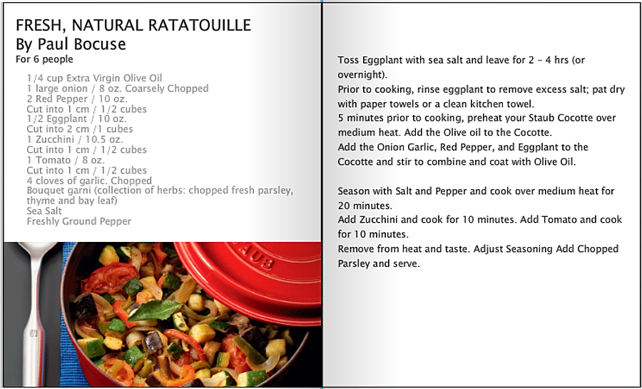 Fresh, Natural, Ratatouille