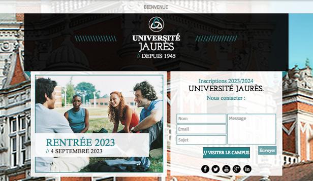 Landing Page Académique