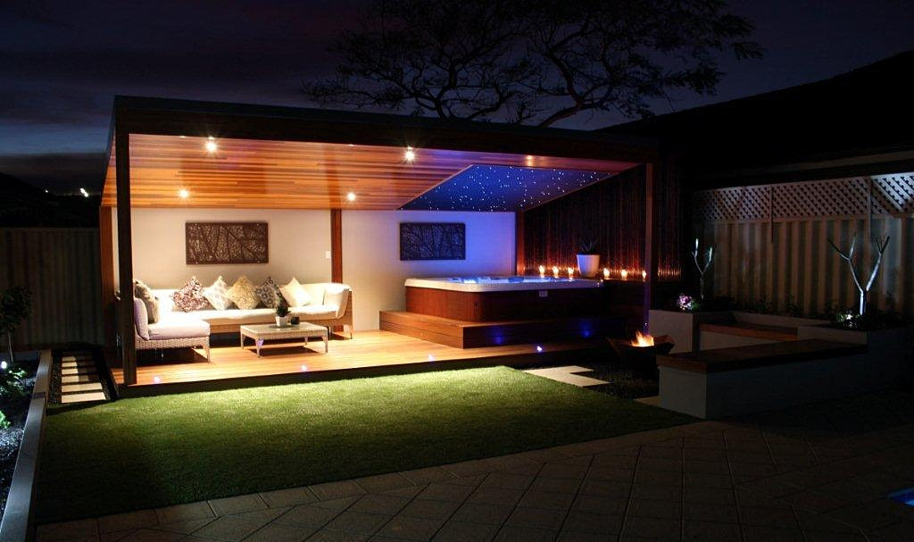 Pergola Lighting Led : Pergola with LED Lights