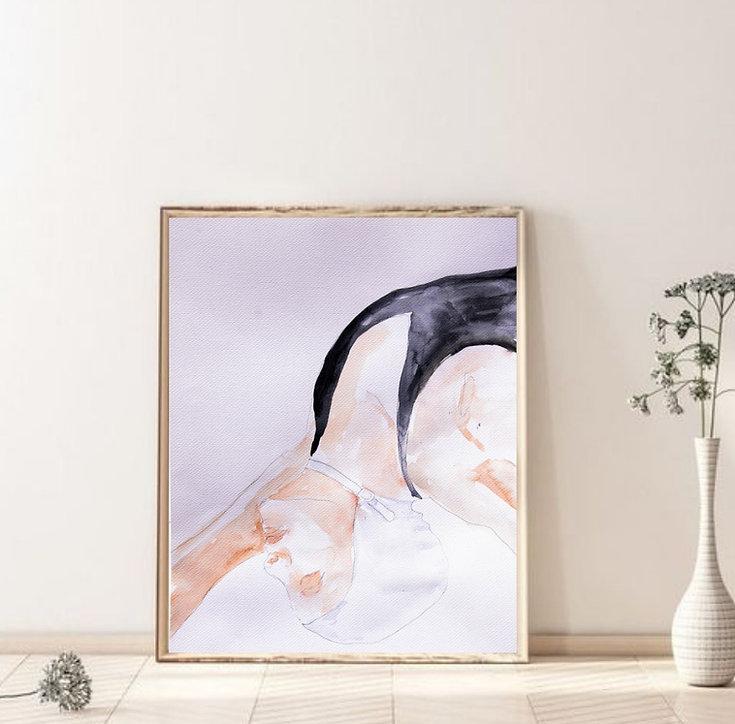 Katherine Rawls, painting by alketa deli