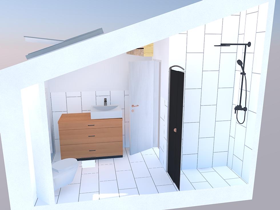 Simon Curschellas Architecture | Badezimmer Badezimmer Von Oben