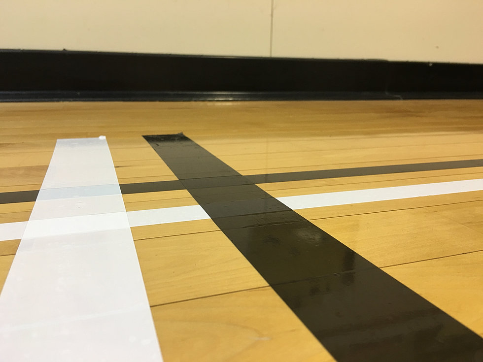 Hardwood and rubber sports flooring gym floor maintenance for Gym flooring