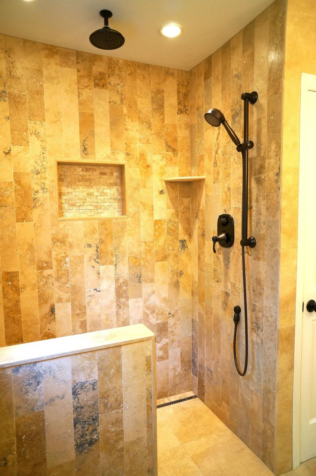 Bathroom And Shower Remodeling Contractor In Az Travertine Shower Remodel Arizona