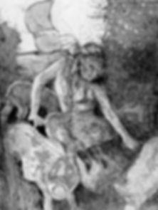 Circe Aquatinta un Strichätzung
