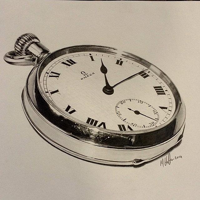 Asylum Tattoo Instagram Pencil Drawing Sketch Art Pocktwatch Pocket Watch Time