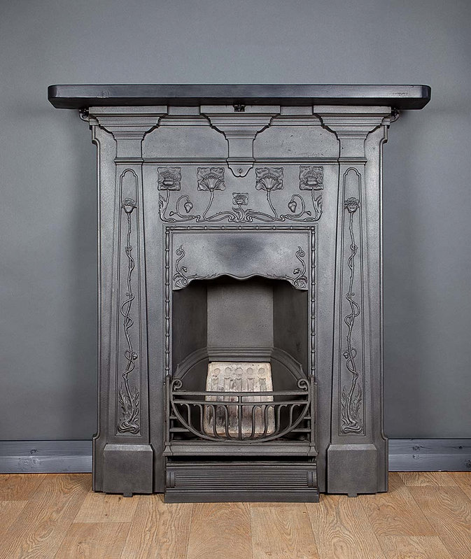 Cast In Place Chimney : Cast iron fireplace the finishing room