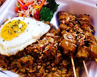 Chicken Satay with Fried Rice