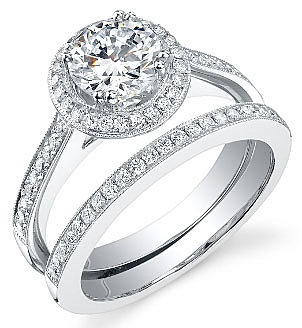 White Gold Wedding Rings | White Gold Wedding Rings Set