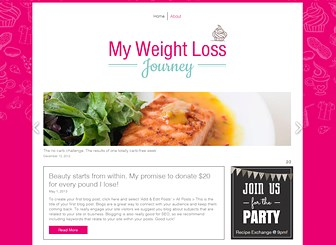 Healthy Living Blog Template - Perfect for lifestyle bloggers, this vibrant template is ready to inspire and motivate. The sliding gallery and boxed layout give the design a professional edge while the bright color scheme and playful illustrations add a friendly touch. Start editing to chronicle your journey to success!