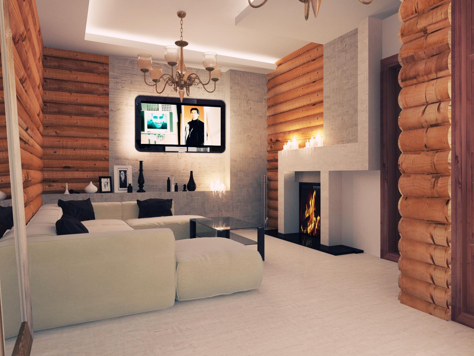 Дизайны интерьеров из блок-хауса