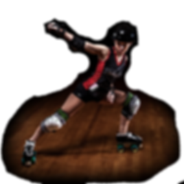 rollergirl powerslide on roller skates