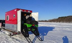 Beberg outdoors skid trailer info prices for Alumalite fish house