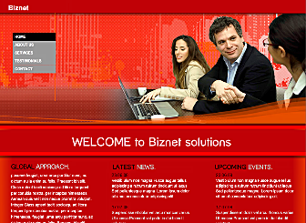 BizNet Template - This Corporate styled Flash template will help you create & increase your online presence with ease. Just add your unique texts & images and you are ready to get online in a Flash with our simple publishing wizard