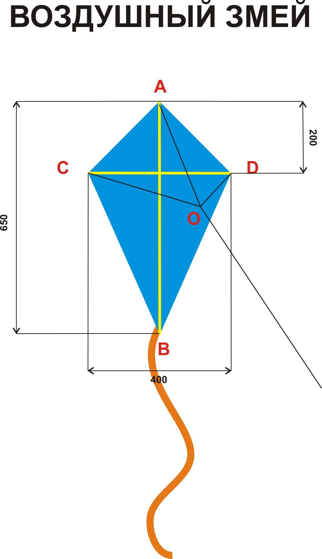Как сделать воздушного змея? Инструкции, Схема, Фото 96