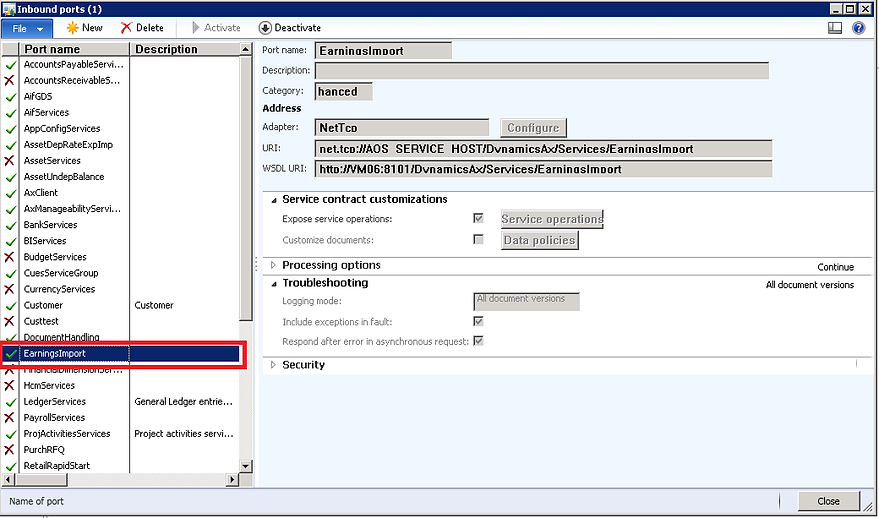 Importing Earnings Statements for Payroll Processing in AX 2012 – Earnings Statement Template