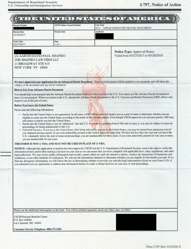 Case Status Update: EAD & Travel Document approved; DACA Renewal ...