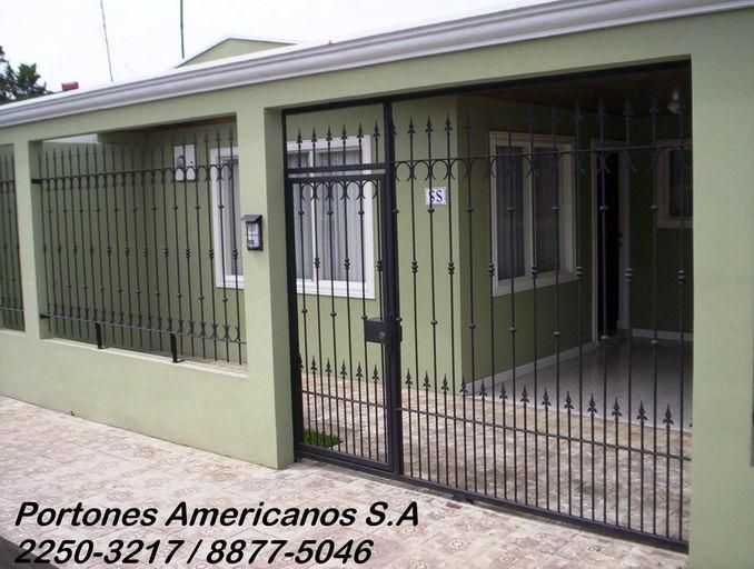 Portones electricos for Portones de hierro forjado para casas