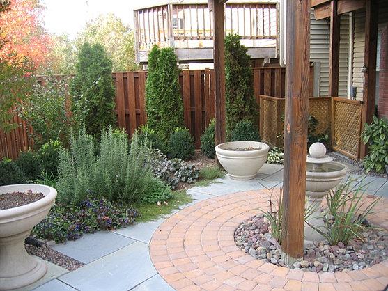 Courtyard Landscape and Herb Garden
