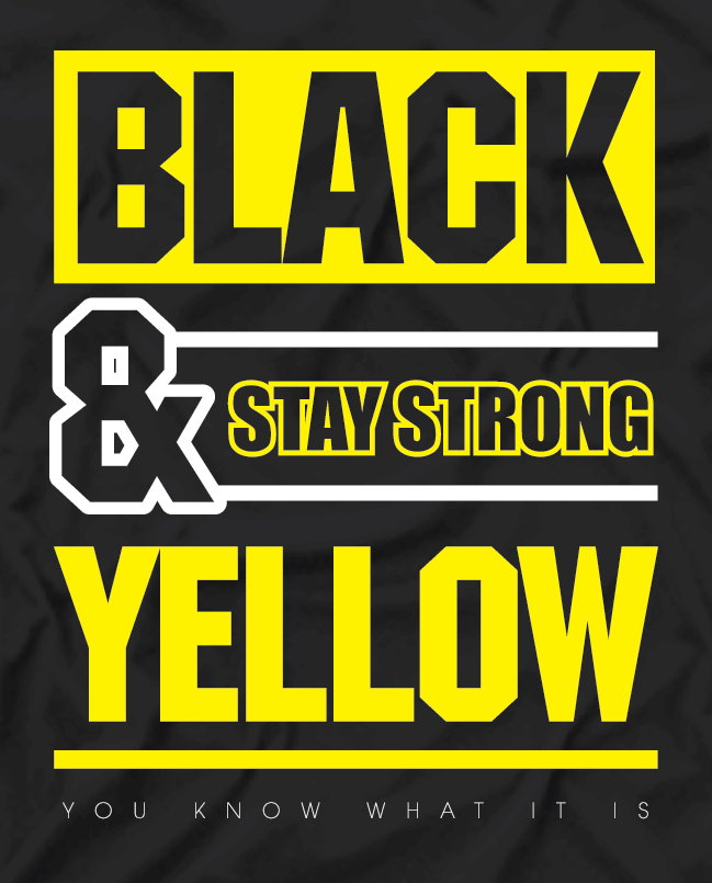 Stay Strong Black N Yellow Tee