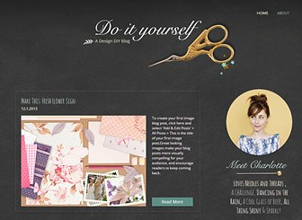 DIY Blog Template - Custom-made for DIY enthusiasts, this gorgeous template is easy to personalize and update. Share your own handicraft inspirations through creating text, photos and videos. Give the blog your own style and customize the color scheme. Start editing now and watch your followers grow!