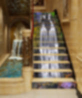stairs waterfall mural Creative Sign and