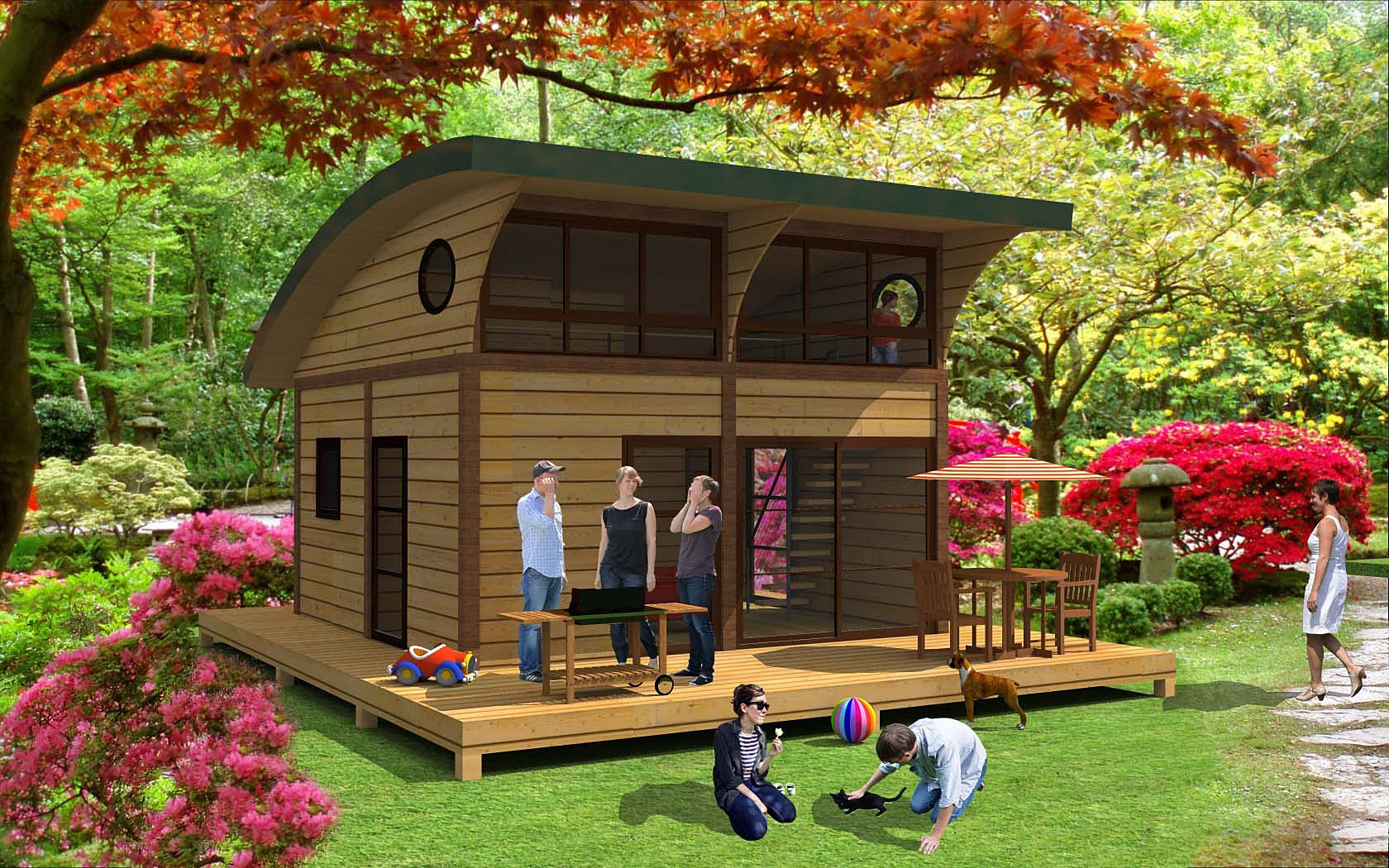 Conception construction maison bois cologique for Habitat modulaire bois