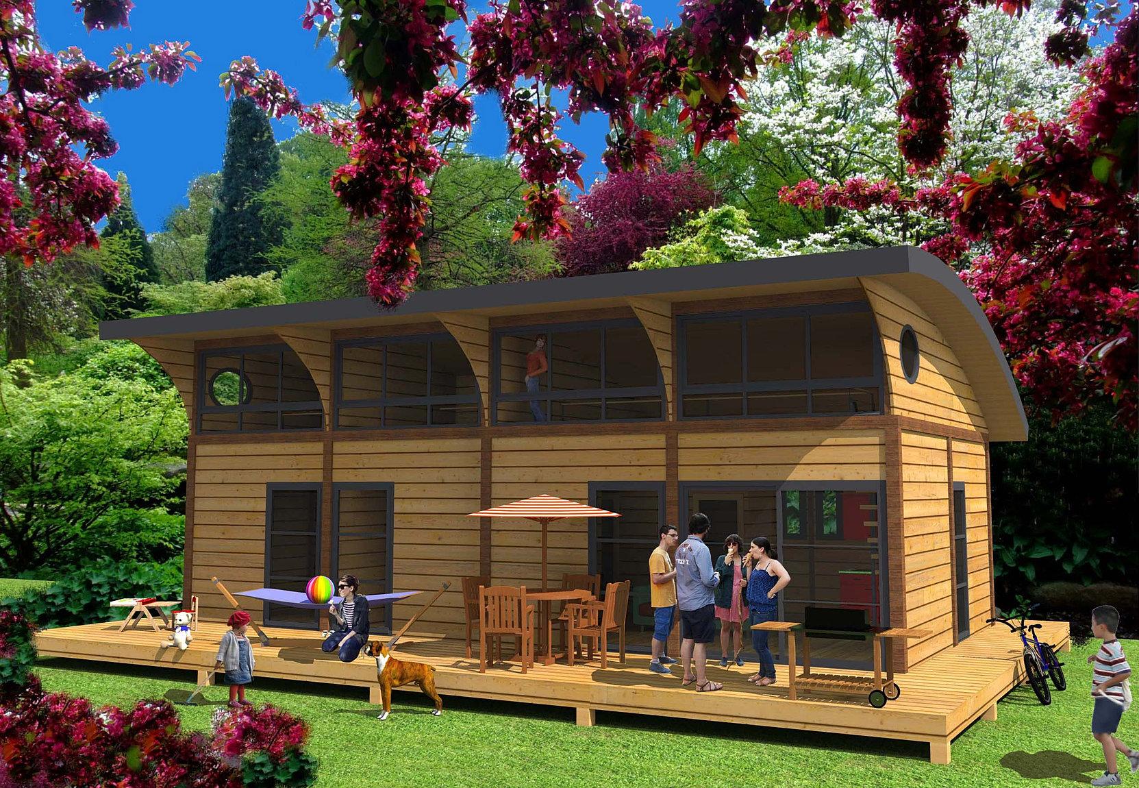 Free habitat modulaire with maison bois gard for Habitat modulaire bois