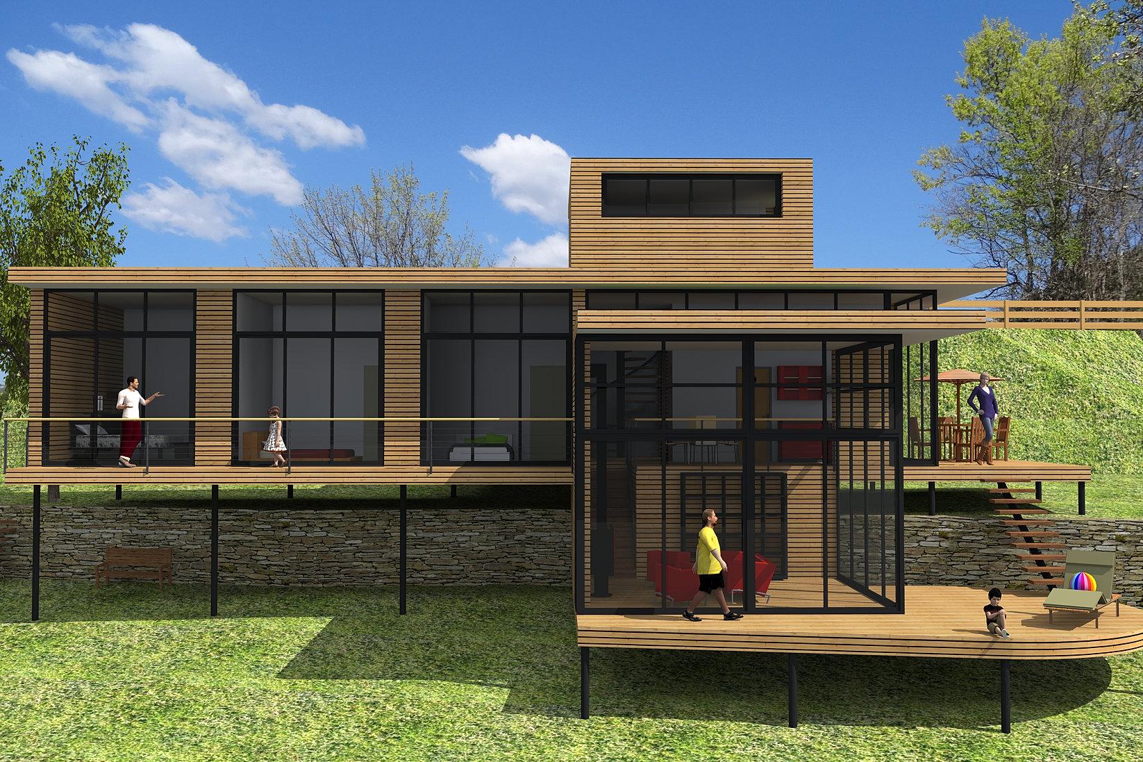 Constructeur maison bois gard for Constructeur maison moderne gard