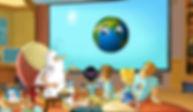 Czołówka serii 'Byla sobie Ziemia' (źródło -YouTube - zrzut ekranu)
