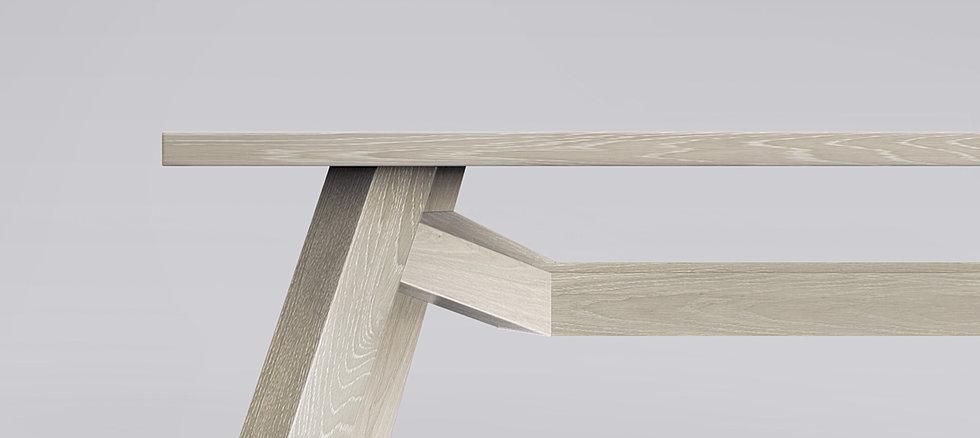 Bruut eiken design tafel for Eiken design tafel