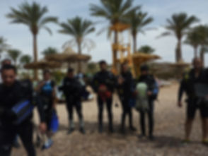 Preparing to enter the Water for a Shore dive in Aqua Sport Taba
