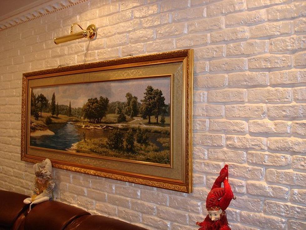 Отделка стены под кирпич фото